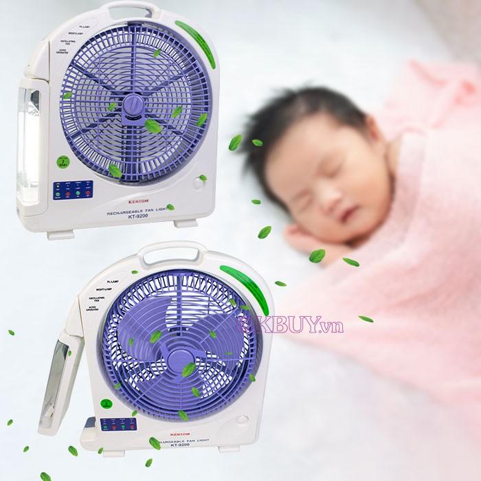quạt sạc điện mini kentom KT-9200