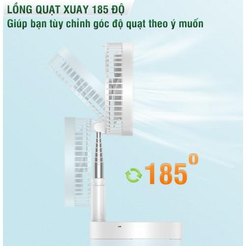 Quạt sạc tích điện mini để bàn gấp gọn đa năng P9