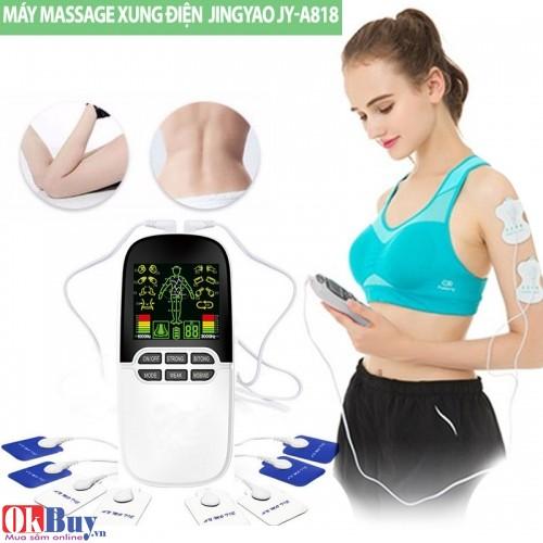 Máy massage xung điện 8 miếng dán đèn hồng ngoại JINGYAO JY-A818