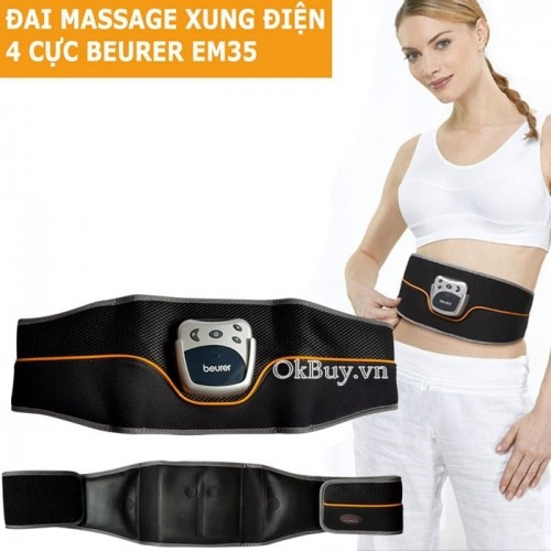Đai massage xung điện 4 cực giảm mỡ bụng Beurer EM35
