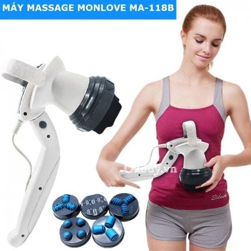 Máy massage cầm tay 6 đầu cao cấp của Nga Monlove MA-118B