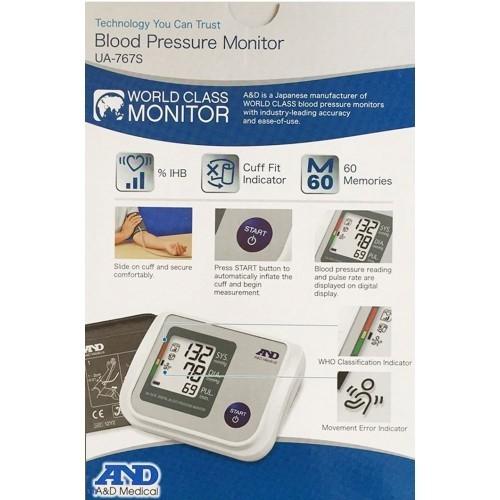 Máy đo huyết áp bắp tay tự động AND UA-767S