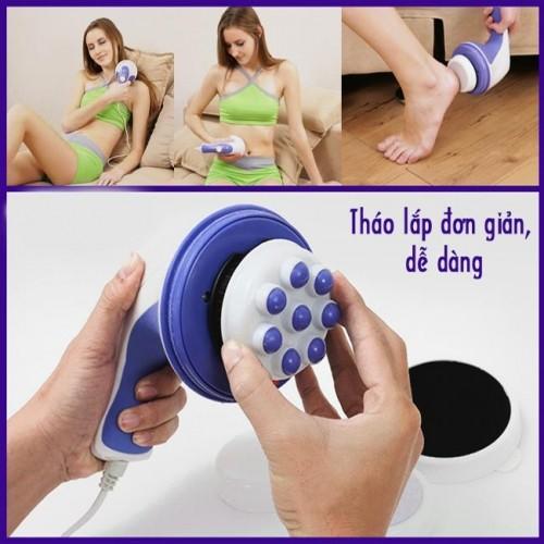 Máy massage bụng cầm tay Relax & Spin Tone A781 - 4 đầu