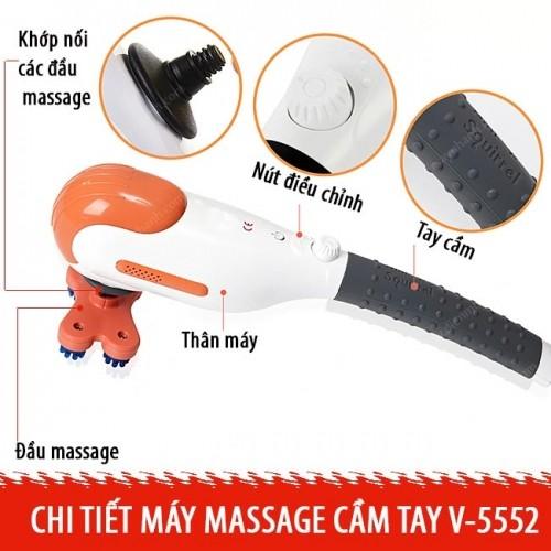 Máy massage cầm tay Hàn Quốc Mini Squirrel MSV-5552 - 5 đầu