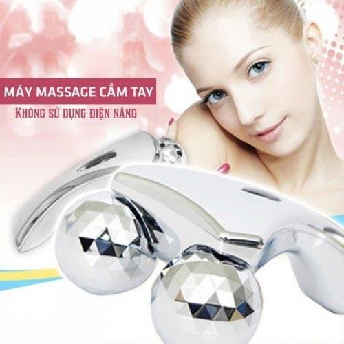 Máy massage cầm tay nâng cơ mặt 3D massager không dùng điện