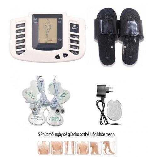 Máy massage xung điện trị liệu đa năng 6 miếng dán và massage chân