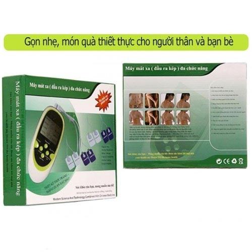 Máy massage xung điện trị liệu 8 miếng dán chính hãng