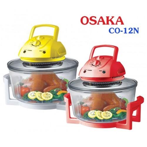 Lò nướng thủy tinh Nhật Bản Osaka CO12N - Màu đỏ, vàng 16L