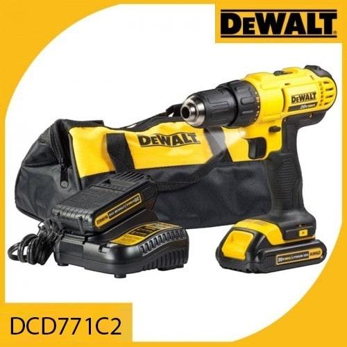 Máy khoan vặn vít pin sạc Dewalt DCD771C2/ 18V - 1.3Ah 2 pin