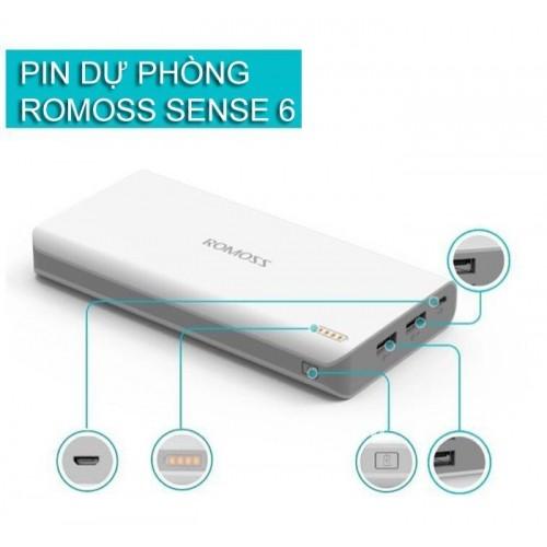 Pin sạc dự phòng Romoss Sense 6P 20000 mAh