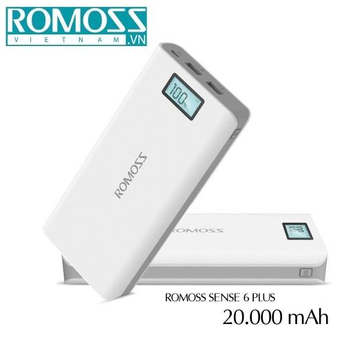 Pin sạc dự phòng Romoss Sense 6 Plus 20000mAh/ PH80