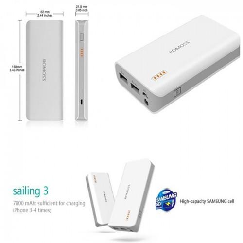 Pin sạc dự phòng Romoss Sailing 3 PH30-301 - 7800mAh