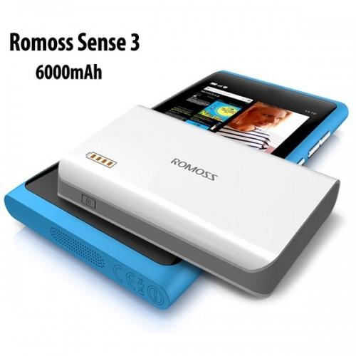Pin sạc dự phòng điện thoại Ipad Romoss Sense 3-6000mAh