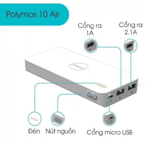 Pin sạc dự phòng điện thoại Romoss Polymos PB10 10000mAh