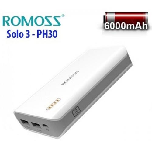 Pin sạc dự phòng Romoss Solo 3 PH30 - 6000mAh (2 cổng sạc)