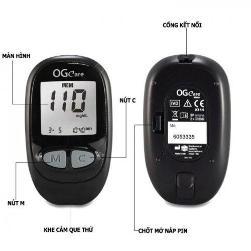 Máy đo đường huyết cá nhân BIOCHE BSI OGCare