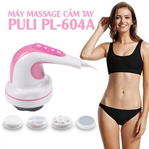 Máy massage bụng cầm tay cao cấp 4 đầu Puli PL-604A - Nút bấm