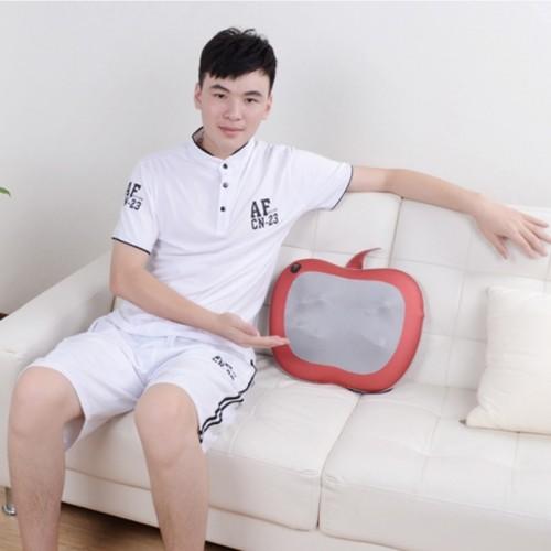 Gối massage lưng, cổ hồng ngoại 8 bi Puli PL-811 - Apple
