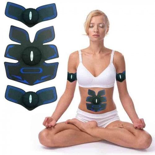 Máy massage xung điện tập tập cơ bụng GYM 6 múi pin sạc - Xanh