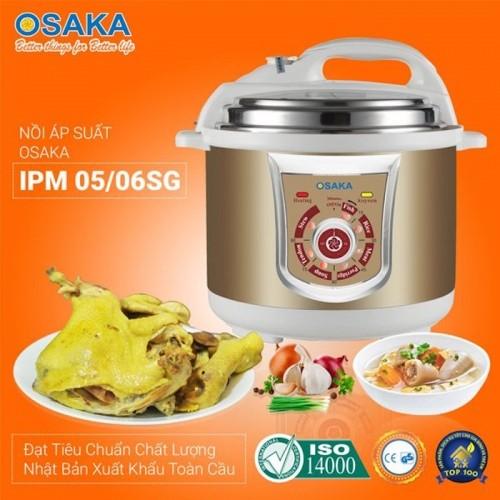 Nồi áp suất điện lòng inox 304 Osaka IPM-05SG 5 lít