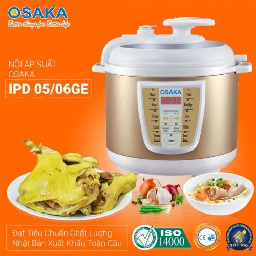 Nồi áp suất điện tử Nhật Bản 5L Osaka IPD-05GE - Lòng inox