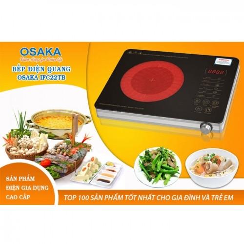 Bếp hồng ngoại cao cấp Osaka IFC-22TB - 2 vòng nhiệt