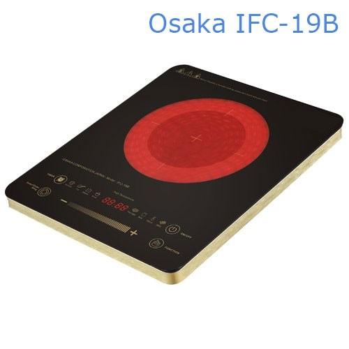 Bếp điện hồng ngoại Nhật Bản Osaka IFC19B - 2 vòng nhiệt