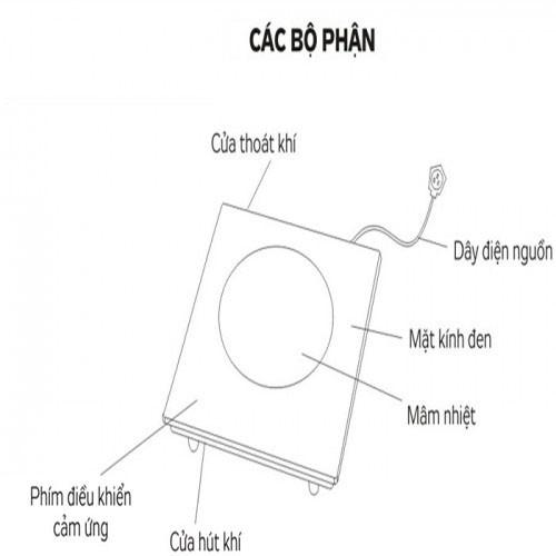 Bếp hồng ngoại đơn âm Thái Lan Panword PW-865