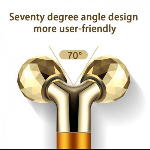 Máy massage nâng cơ mặt và tạo cằm V line 3D dùng pin - Gold