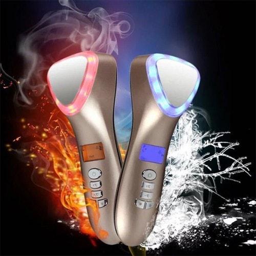 Búa điện di nóng lạnh massage ion ánh sáng sinh học trẻ hóa da D002