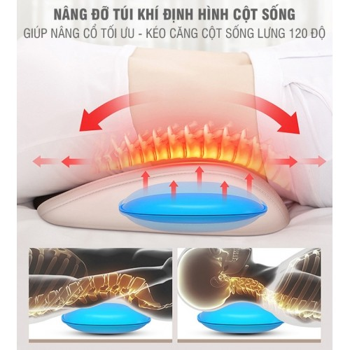 Máy massage lưng rung nóng hồng ngoại đa năng YIJIA YJ-M3