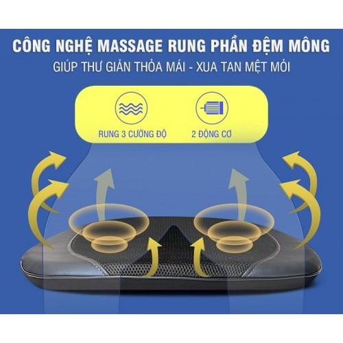 Ghế đệm massage ô tô nhiệt hồng ngoại cao cấp Nikio NK-181