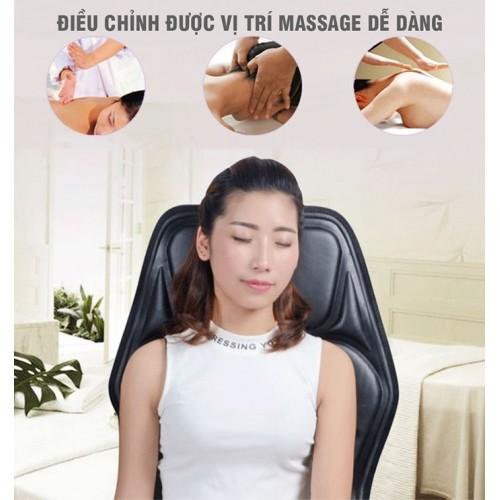 Ghế đệm massage ô tô hoặc tại nhà có nhiệt sưởi, 9 cấp độ rụng YIJIA YJ-308 - 12V