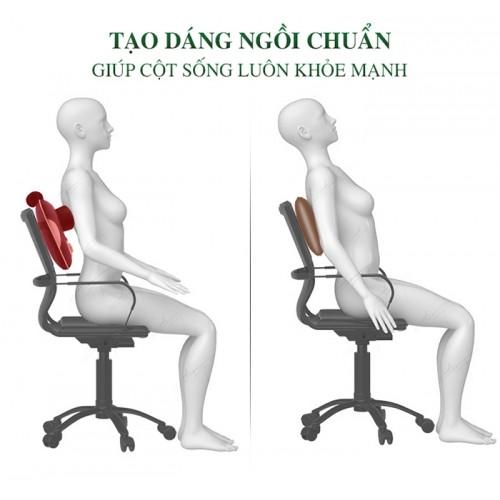 Gối massage pin sạc đấm bóp cổ vai gáy Nikio NK-136DC