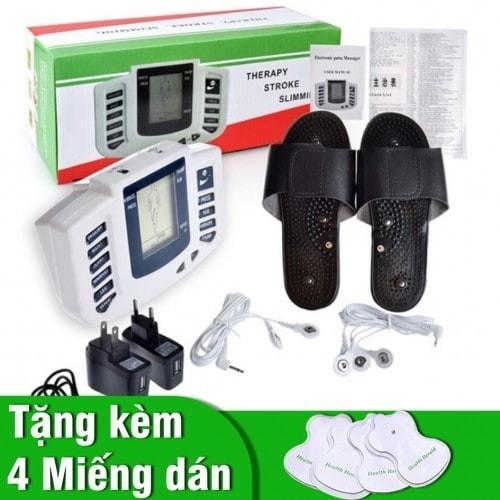 Máy massage xung điện trị liệu 6 miếng dán và massage chân JR-309A
