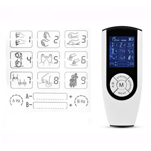 Máy massage xung điện 2 điện cực pin sạc JY-A828 - 4 miếng dán