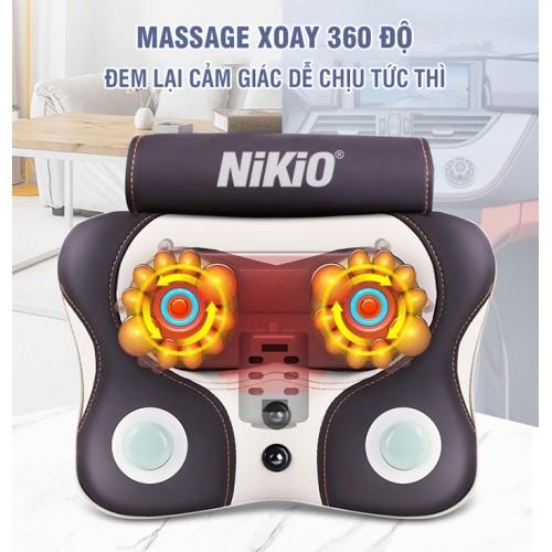 Máy (gối) mát xa xoa bóp trị đau mỏi cổ vai gáy Nikio NK-136AC