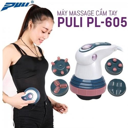 Máy massage bụng cầm tay 4 đầu hồng ngoại Puli PL-605 - Cơ