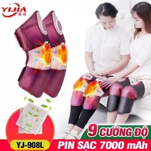 Máy massage Rung Nóng điều trị đau nhức đầu gối, bắp chân, đùi pin sạc YIJIA YJ-908L