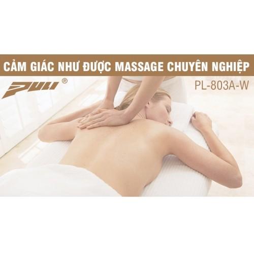 Máy massage lưng hồng ngoại xoay day ấn 8 bi Hàn Quốc Puli PL-803A-W