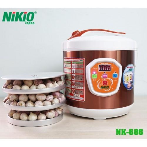 Nồi làm tỏi đen tùy chỉnh Nhật Bản Nikio NK-686 - 6L, làm được 2kg tỏi