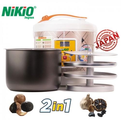 Máy làm tỏi đen chuyên dụng Nhật Bản Nikio NK-696 - Bạc kẻ vuông