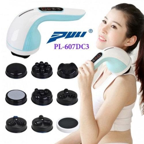 Máy massage cầm tay dùng pin sạc 8 đầu Hàn Quốc Puli PL-607DC3