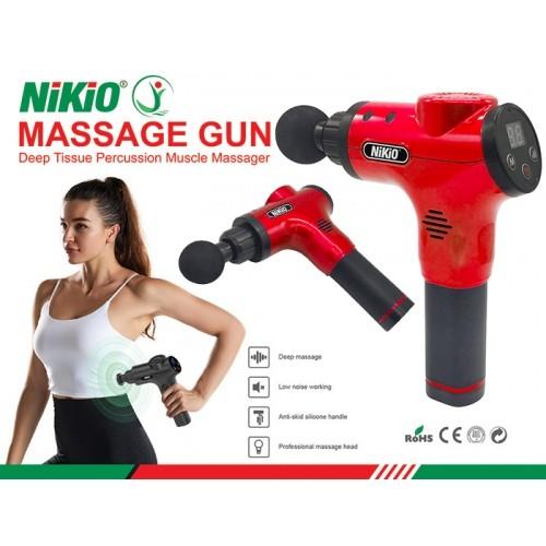 Súng massage cầm tay 6 đầu, 5 chế độ Nhật Bản Nikio NK-170B - Đỏ
