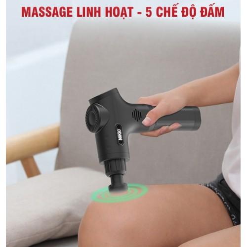 Máy massage cầm tay Nhật Bản Nikio NK-170B - 6 đầu, 5 chế độ mát xa