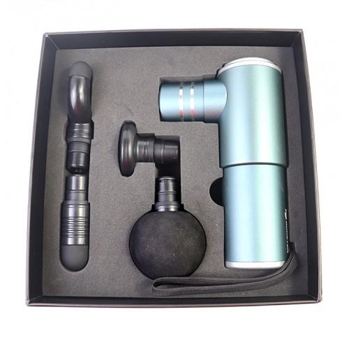 Súng massage cầm tay mini 4 đầu Booster Pocket MINI - Xám xanh