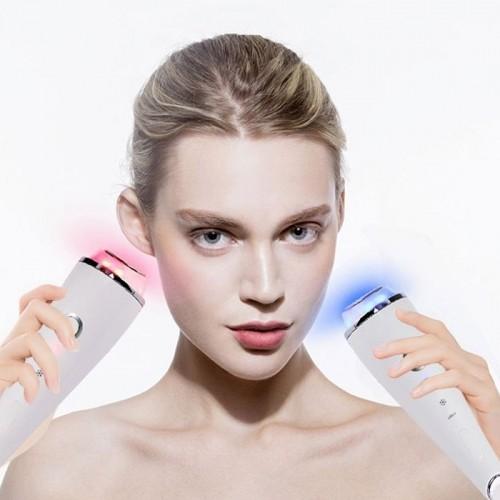 Máy massage mặt, mắt thẩm thấu nóng lạnh 2 đầu Binzim BZ-0505 - 3in1