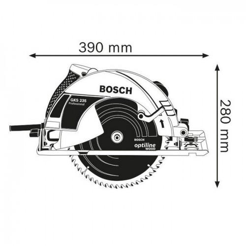 Máy cưa đĩa BOSCH GKS 235 Turbo - 2050W