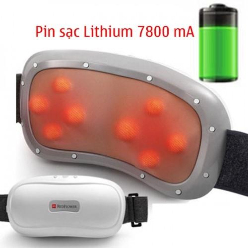 Đai (máy) massage bụng pin sạc xoay xoắn giảm mỡ RED FLOWER RF-013S