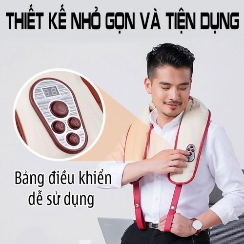 Đai massage đấm bóp cổ vai gáy Mingzhen MZ-666 - 100 kiểu đấm